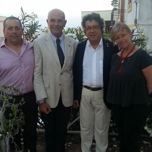 I Tridenti d'oro Stefano Ruia e Franco Andaloro con il presidente dell'Accademia
