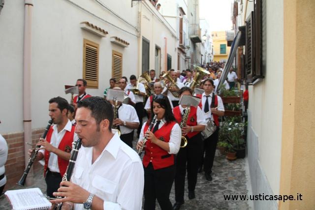 La banda musicale a seguito Processione San Bartolo