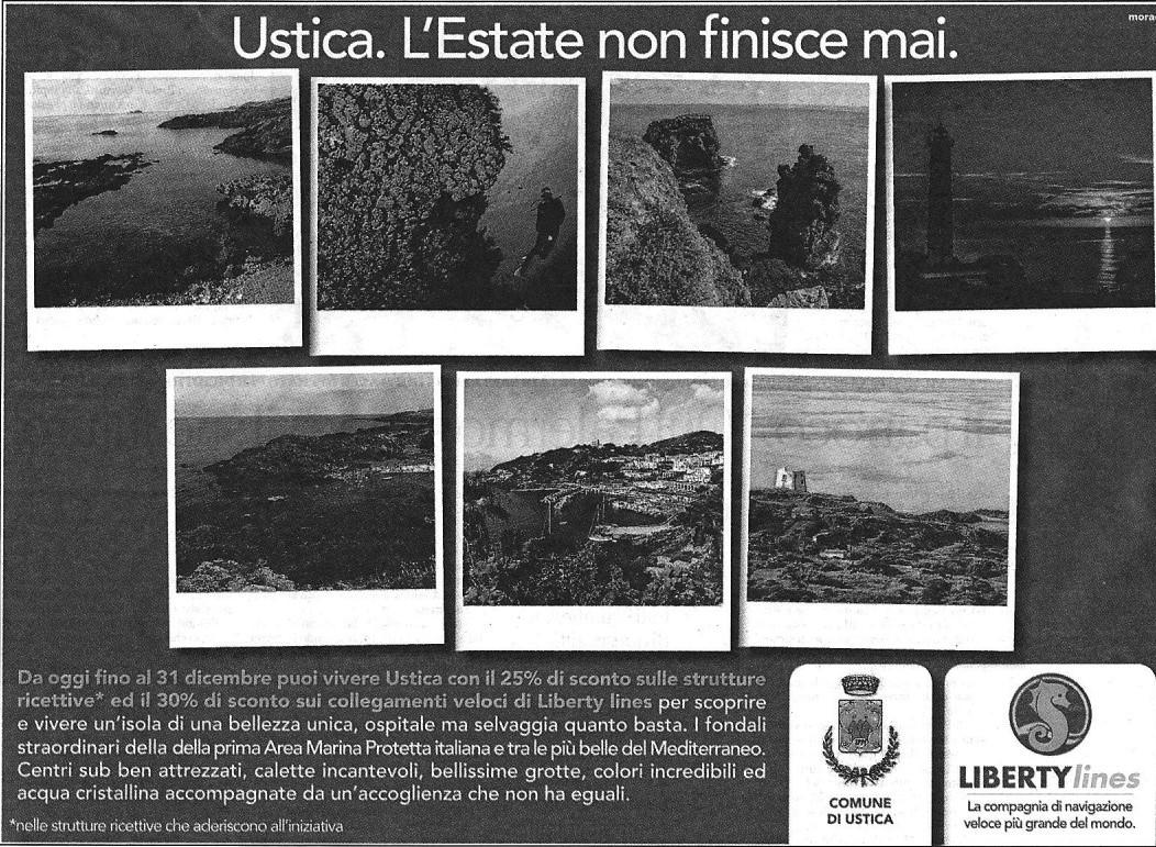 Ustica,  l'Estate non finisce mai...