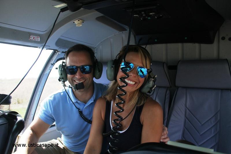 un giro in elicottereo su Ustica con Mr. Wesley Palmisano e sua moglie Annie