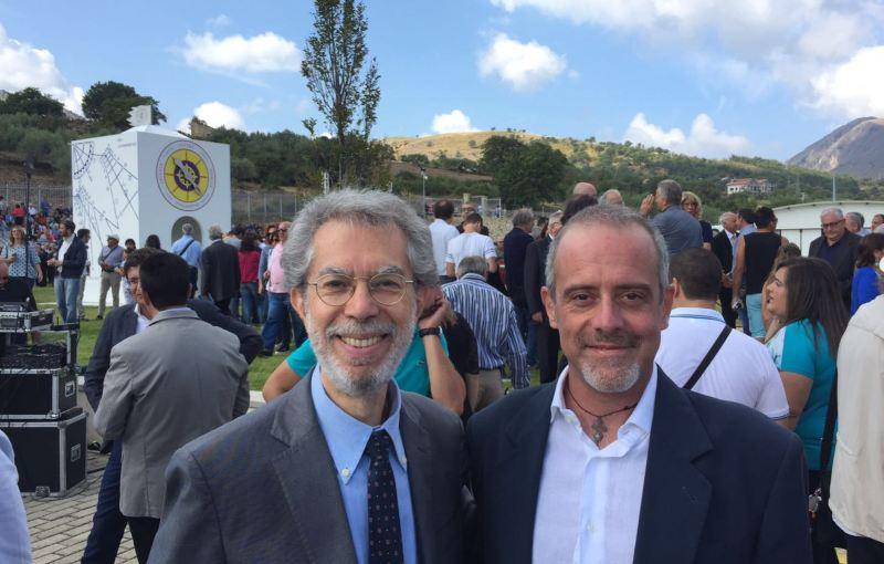 Franco Foresta Martin con il direttore del Museo di Scienze Planetarie di Padova Marco Morelli