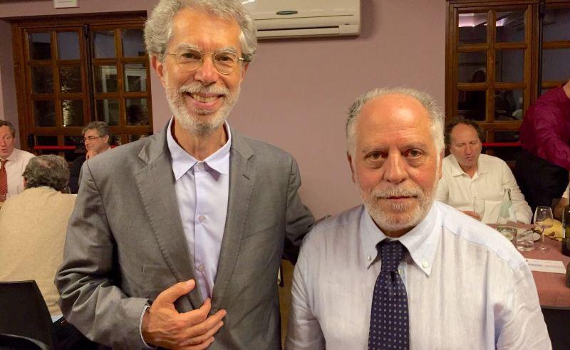 Franco Foresta Martin con il sindaco di Isnello Pino Mogavero