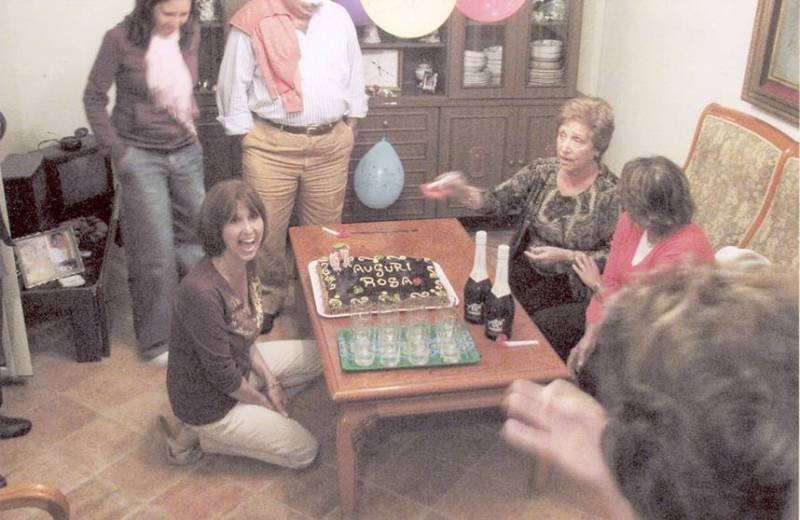 Surprise Birthday Party in Ustica for Rosa Bertucci Newlin.