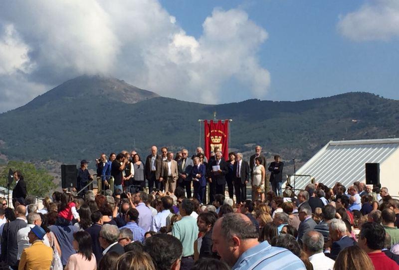 Un momento dell'inaugurazione