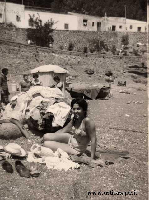 Anche Ustica aveva la sua piccola ma comoda spiaggetta