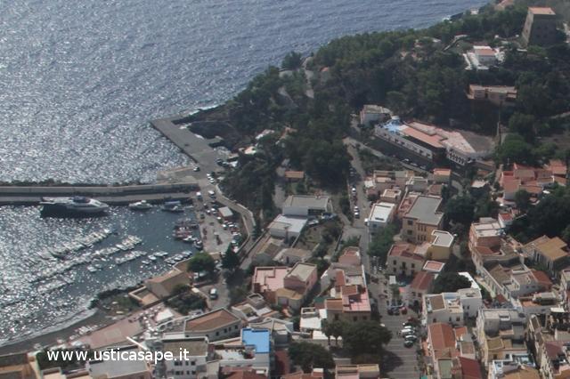 Ustica, panorama visto dall'alto