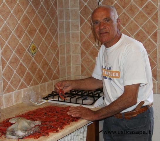 gamberetti di Ustica pescati con le nasse di giunco