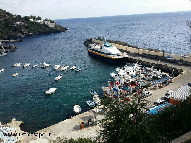 Ustica porticciolo, marineria, catamarano