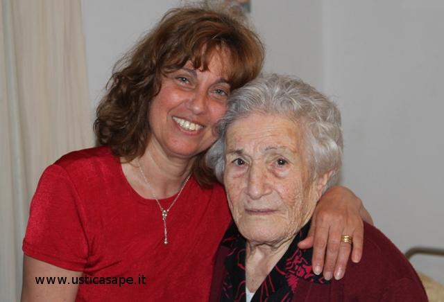 Mimma con nonna Rosina Picone
