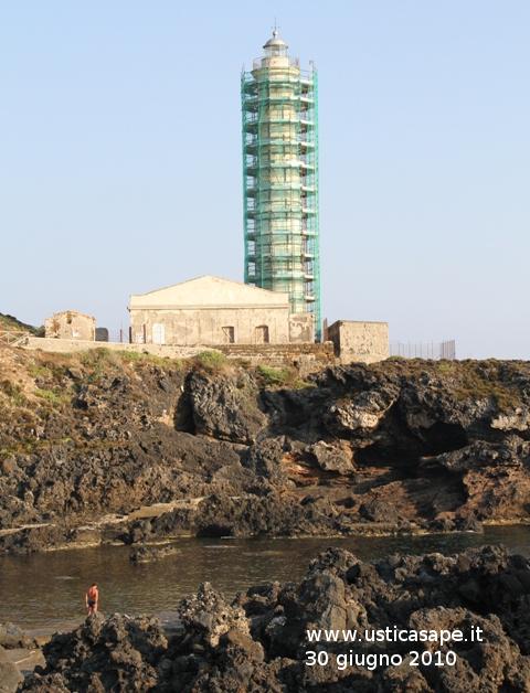Ustica, Faro Punta Cavazzi in ristrutturazione