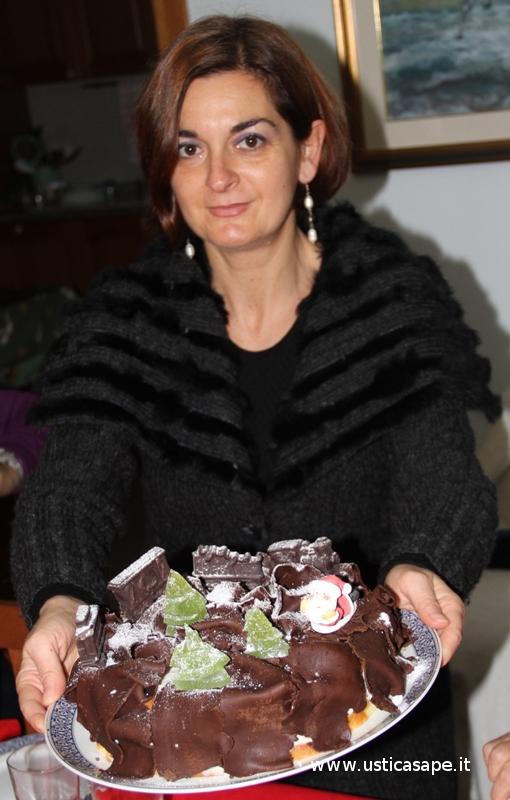 Torta natalizia preparata da Antonella