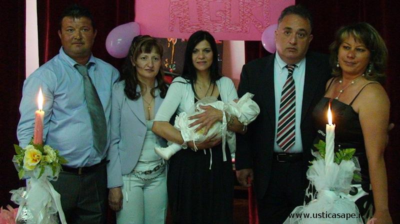 Battesimo Iona Alesia Anghelini figlia di Marius e di Maricica.