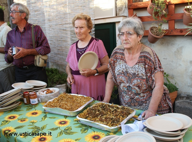 Piatti preparati da Maria Cristina con sughi artigianali, espressione e conservazione delle tradizioni e dell'arte culinaria usticese