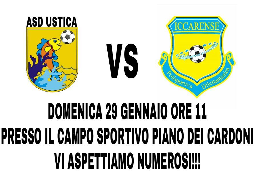 Incontro di Calcio ASD Ustica - ICCARENSE