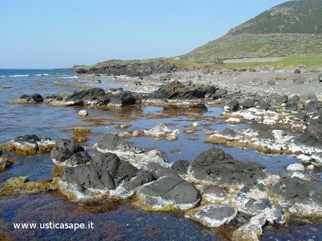 Ustica Spalmatore, spettacolare bassa marea