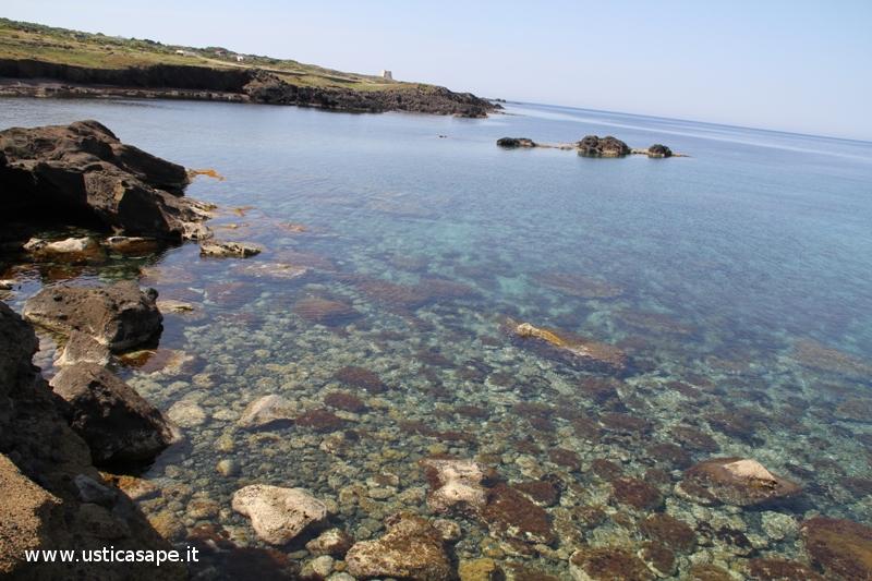 Ustica Cala Sidoti, trasparenza acqua