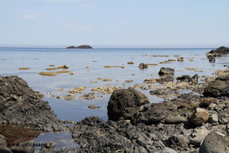 Ustica sbarramento, bassa marea