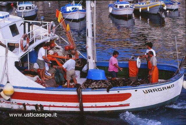 Ustica, rientro pescatori