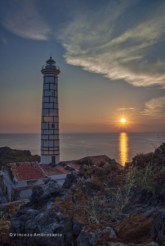 Faro Punta Cavazzi - Tramonto