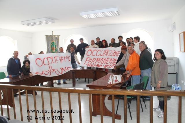 Ustica protesta pescatori - occupazione comune 1912