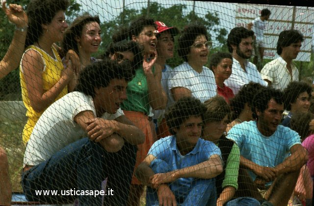 Ustica partita di baseball, spettatori