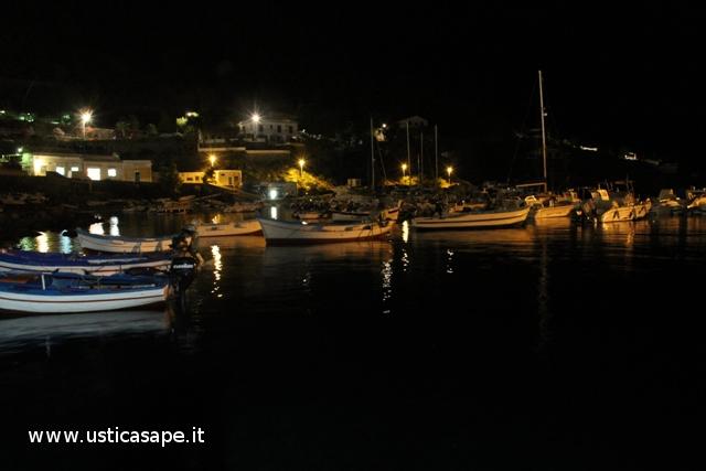 Ustica, Cala santa maria di notte