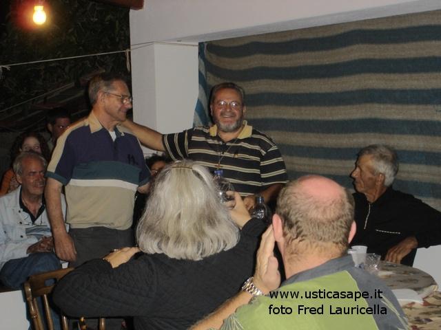 Fred Lauricella, cena il giorno prima di lasciare Ustica