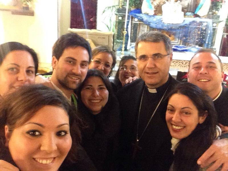 Una foto ricordo con Monsignor Corrado Lorefice Arcivescovo di Palermo