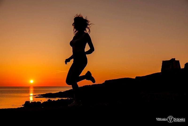 Ustica, sunset jogging