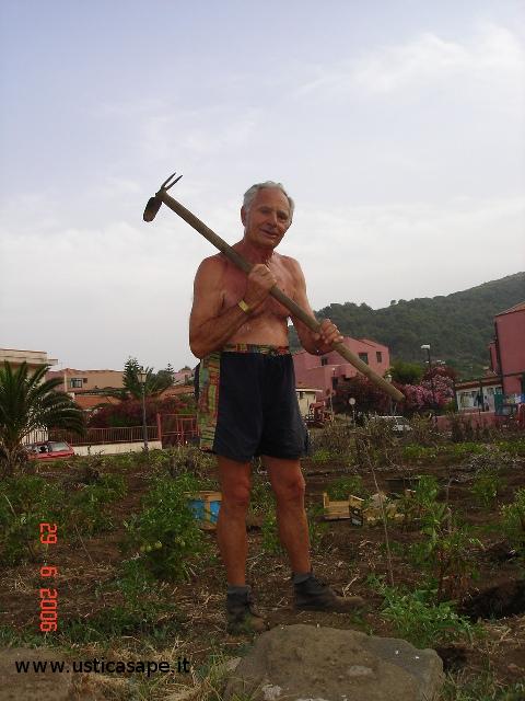 Agricoltore provetto per un giardino naif
