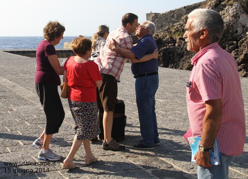 Marlene e Tom dalla California ad Ustica per visita Amici e Parenti
