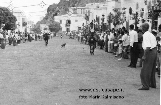 Ustica, corsa asinelli in piazza in occasione della festa di san Bartolo