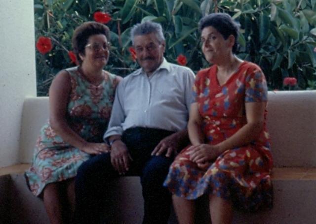 Peppino Giuffria con le figlie Vittoria e Mariuccia