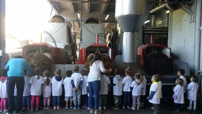 Banbini in visita azienda agricola Cortina - Cisterna LT