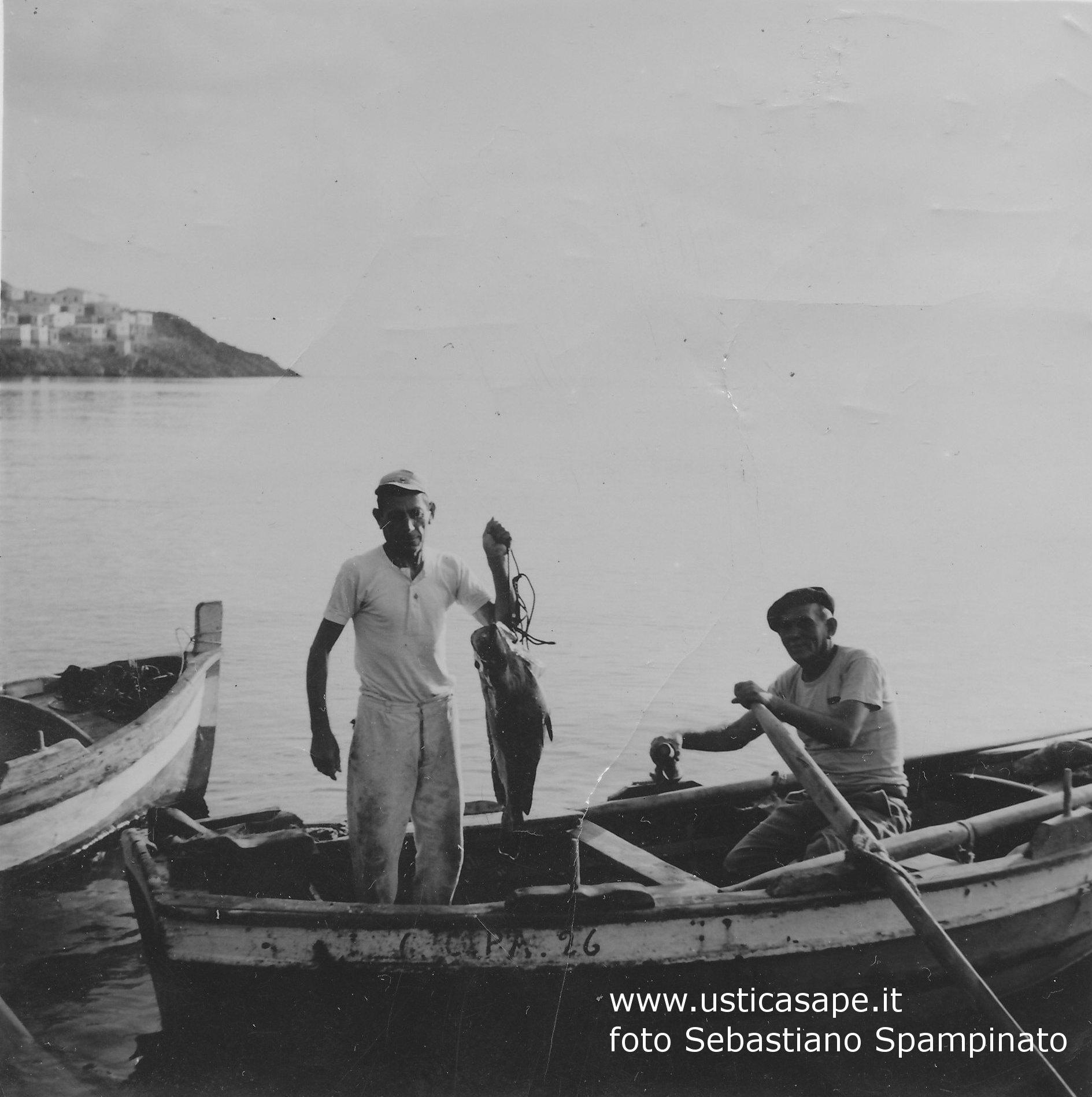 Ustica pescatori, Antonino e Pasquale Spampinato