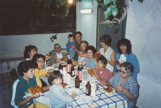 Ustica famiglia Giovannino Palmisano, Pizziata