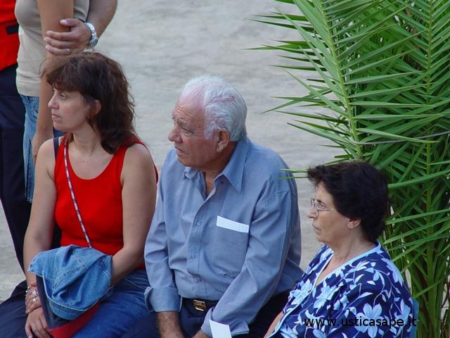 Gioacchino Caminita con moglie e figlia