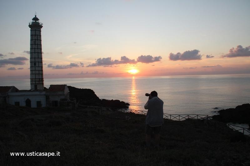 il tramonto dal faro visto da Mimmo Drago
