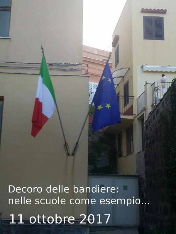 Ustica decoro delle bandiere: nelle scuole come esempio...