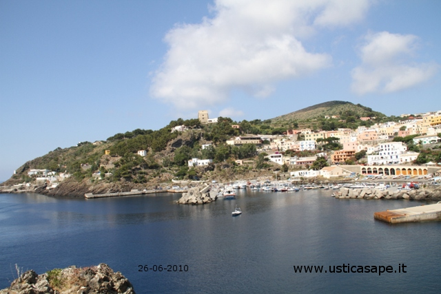 Ustica, grotta azzurra, porto, Paese