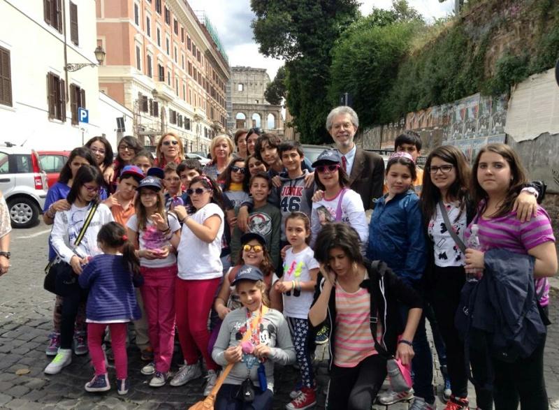 Scolaresca di Ustica in gita a Roma