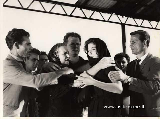 Foto estratta da un film girato ad Ustica
