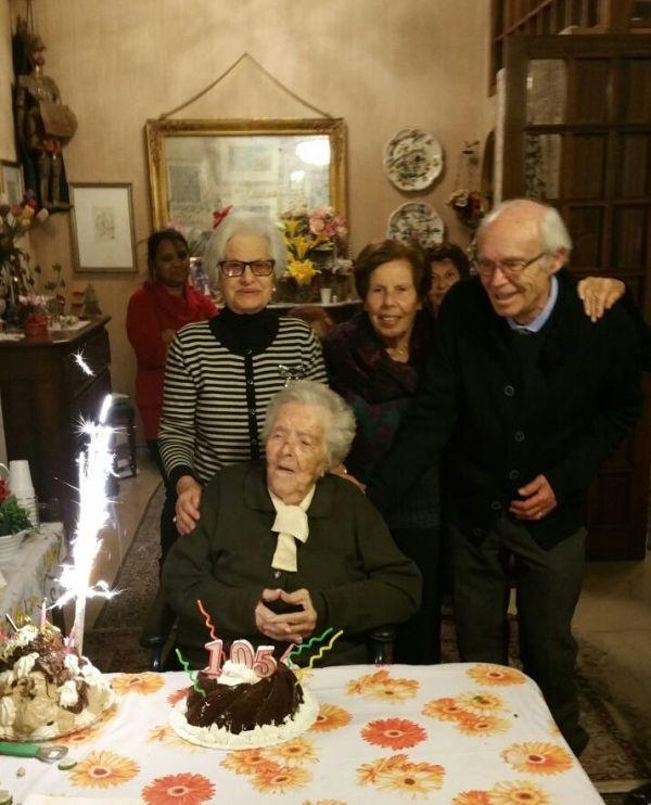 Nonna Maria Bertucci Giordano spegne le 105 candeline