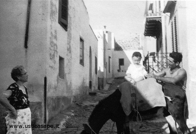 Bambino sull'asino con Salvatore Licciardi