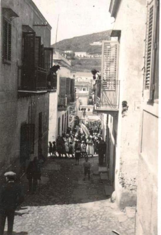 Ustica via Calvario, Processione Venerdì Santo