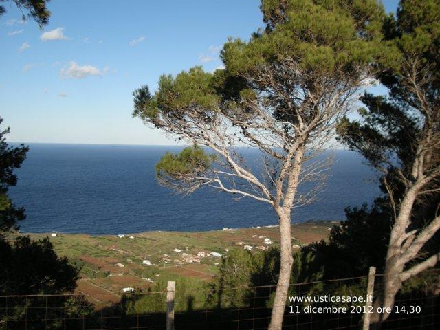 Ustica, tramontana vista dalla montagna