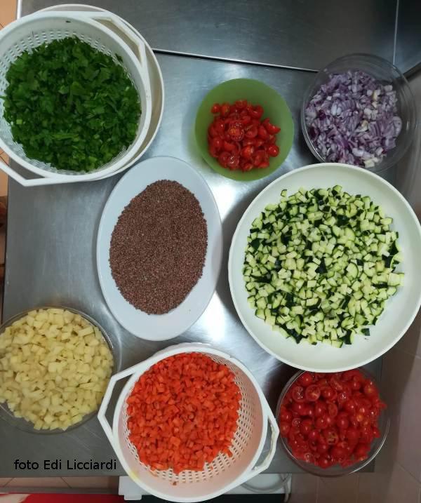 preparato per la zuppa di lenticchie