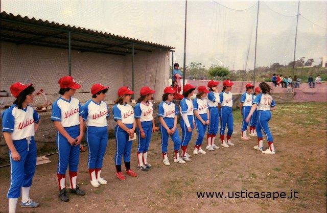 Ustica, squadre di softball