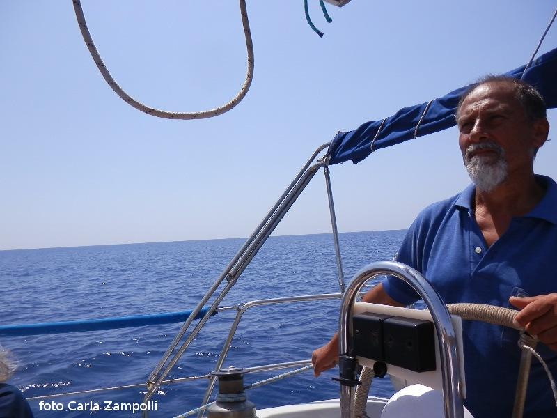 Ustica, in barca con Pino Pitruzzella -giugno 2016... bel ricordo!