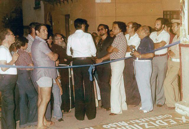 Ustica inaugurazione mostra pittura, Aldo Riso e Gurrieri